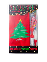 Real Ugly Socks Design Your Own Ugly Christmas Tree Socks Kit