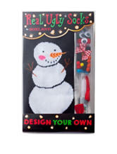 Real Ugly Socks Design Your Own Ugly Snowman Socks Kit