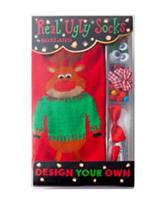 Real Ugly Socks Design Your Own Ugly Reindeer Sock Kit