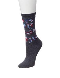 Happy Holidays Denim Socks