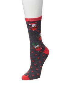 Happy Holidays Black Socks