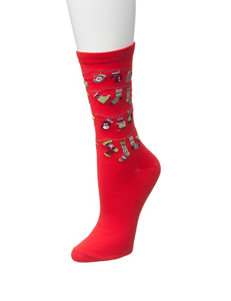 Happy Holidays Red Socks