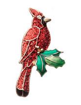 Hannah Red Glitter Cardinal Pin