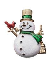 Hannah Glitter Enamel Snowman Pin
