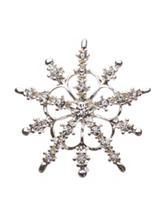 Hannah Silver-tone Clear Crystal Snowflake Pin