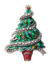 Hannah Enamel Christmas Tree Pin