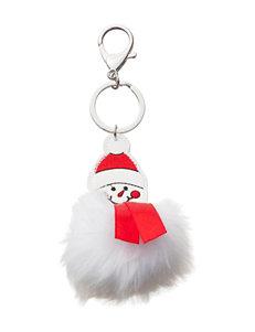 Hannah Fuzzy Snowman Keychain