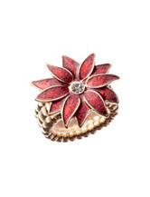 Hannah Gold-Tone Poinsettia Stretch Ring