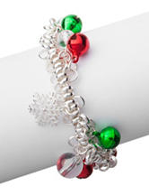 Hannah Jingle Bells Silver-Tone Twisted Wire Bracelet