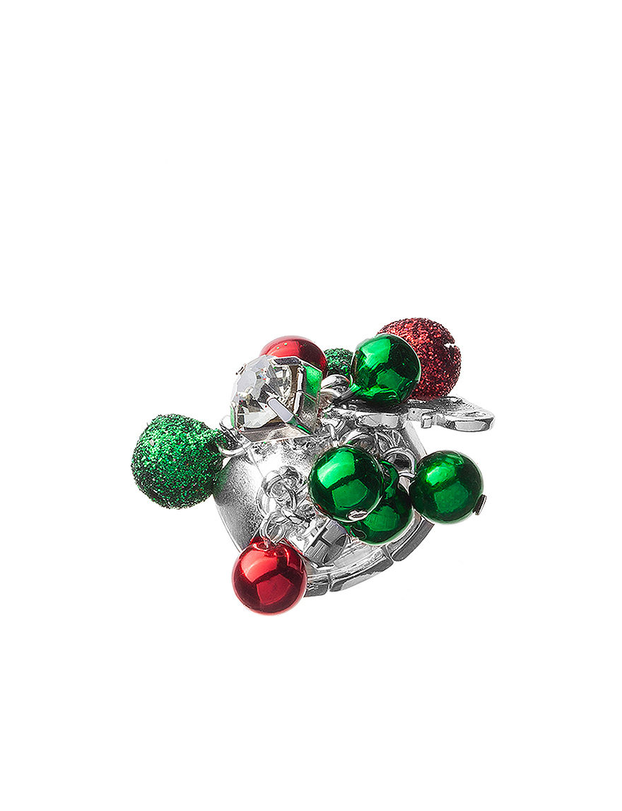 Hannah Multicolor Jingle Bell Stretch Ring Stage Stores