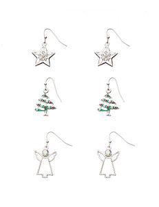 Hannah 3-pk. Christmas Earrings