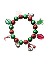 Hannah Red & Green Christmas Jingle Charm Bracelet