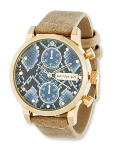 Madden Girl Reptile Print Watch