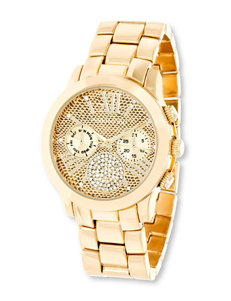 Madden Girl Reptile Gold-Tone Watch