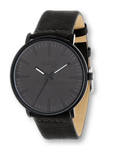 Madden Field Faux Leather Watch