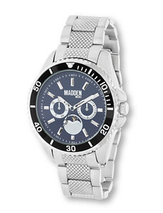 Madden Silver-Tone Diver Watch