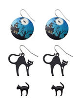 Wishful Park 3-Pair Cat Sugar Disc Earrings
