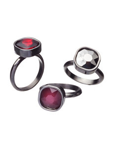 Hannah Red Rings Fashion Jewelry