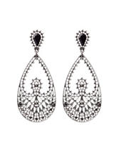 Signature Studio Silver-tone Filigree Drop Earrings