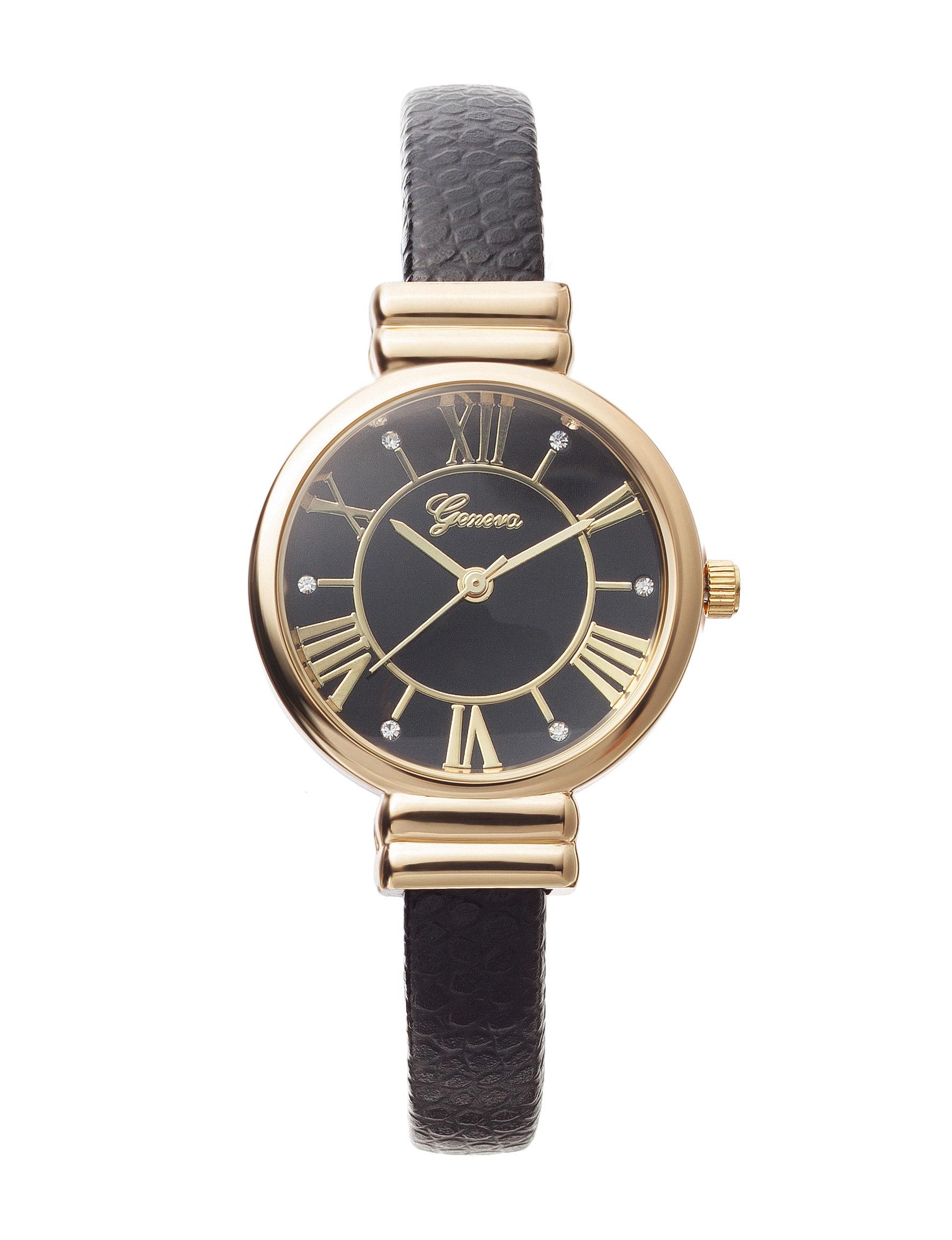 Global Time Black Fashion Watches