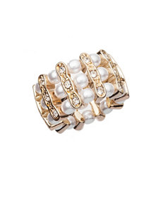 Signature Studio Clear Rings Fashion Jewelry