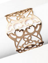 Signature Studio Gold-Tone Filigree Cuff Bracelet