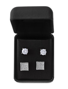 NES 2-pc. Crystal & Cubic Zirconia Earring Set