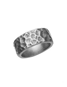 NES Stainless Steel Hammered Ring