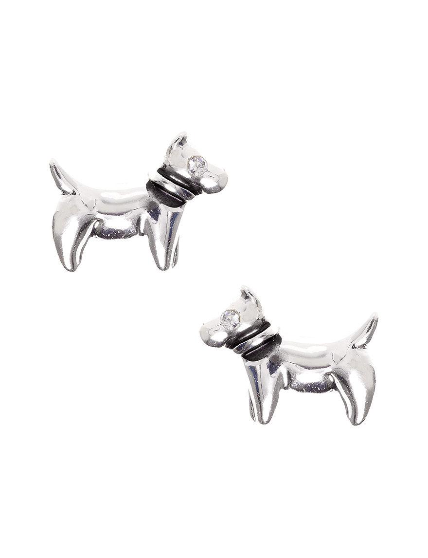 Pet Friends Silver Studs Earrings Fashion Jewelry