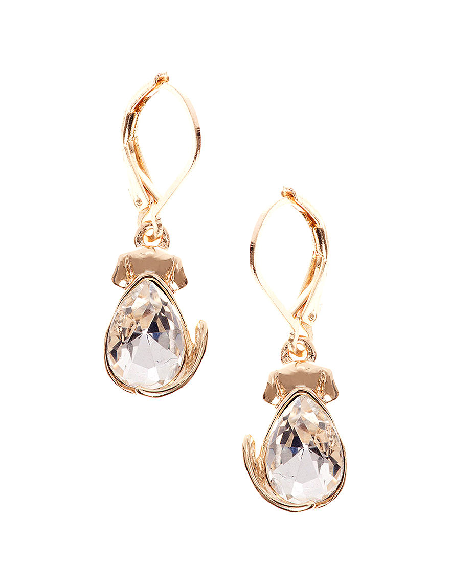 Pet Friends Gold Drops Earrings Fashion Jewelry
