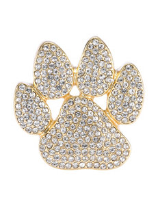 Pet Friends Rhinestone Paw Print Pin