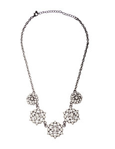 Hannah Accents Flower Stone Bib Necklace