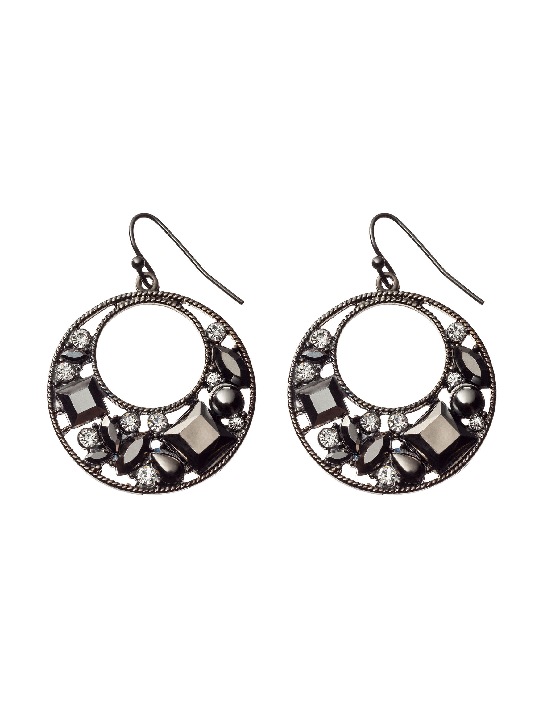 Hannah White Hoops Earrings Fashion Jewelry