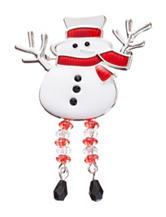 Hannah Dangle Leg Snowman Pin