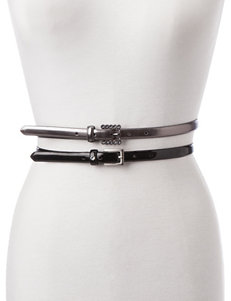 Fashion Focus 2-pc. Faux Leather Belt Set