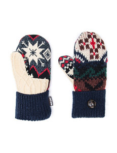 Muk Luks Navy Gloves & Mittens