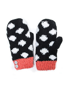Muk Luks Black / Coral Gloves & Mittens
