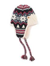 MUK LUKS Fairisle Print Trapper Hat