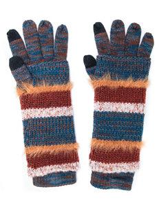 MUK LUKS Striped Print 3-in-1 Gloves
