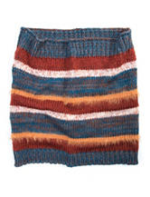 MUK LUKS Striped Print Funnel Hat