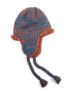 Muk Luks Blue / Orange Hats & Headwear