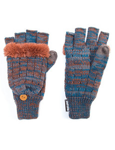 Muk Luks Blue / Orange Gloves & Mittens