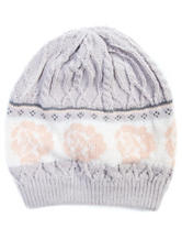 MUK LUKS Cottage Rose Print Knit Beanie
