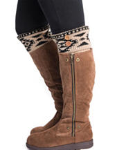MUK LUKS Tribal Fair Isle Print Boot Toppers