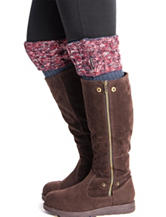 MUK LUKS Cable Marled Boot Toppers