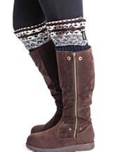 MUK LUKS Fair Isle Print Lodge Boot Toppers