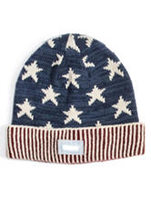 MUK LUKS LED Stars & Stripes Print Beanie