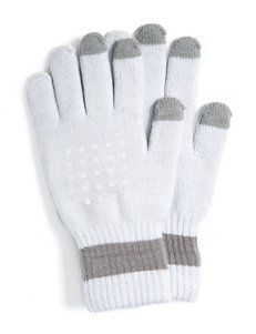 Muk Luks White Gloves & Mittens