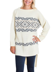 MUK LUKS Hi-Lo Fair Isle Tunic Sweater