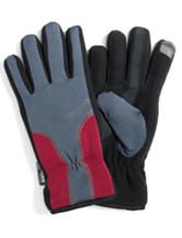 MUK LUKS Color Block Touchscreen Capable Gloves
